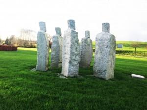 Skulpturen Borgerne i Langå af Erik Heide