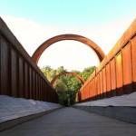 Kassebroen over Gudenåen ved Langå