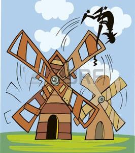 Don Quixote i vindmøllen