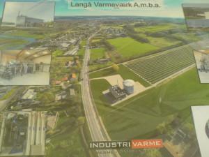 Langå Varmeværk solfangeranlæg plakat 2016