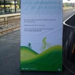 Cykelparkering Langå station plakat 22.9.2017