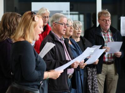 Sang på Langå station september 2017