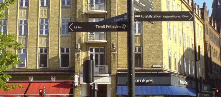 Eksempel på vejviser fra Aarhus