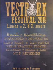 Vestparkfestival 2019 plakat