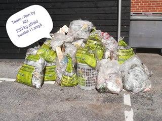 Affaldsindsamling i Langå 31. marts 2019