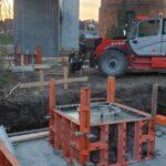 Skovlystbroen i Langå fundament 1.4.19