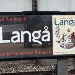 Plakater til bosætningskampagne for Langå