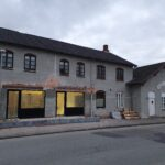 Langå kro facade under ombygning 25.11.2020
